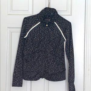 Girls grey zip up active jacket